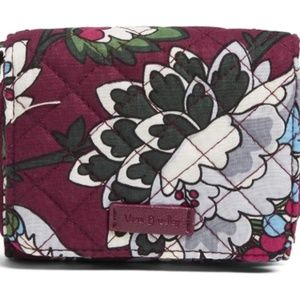 Vera Bradley Iconic RFID Bordeaux Blooms Wallet